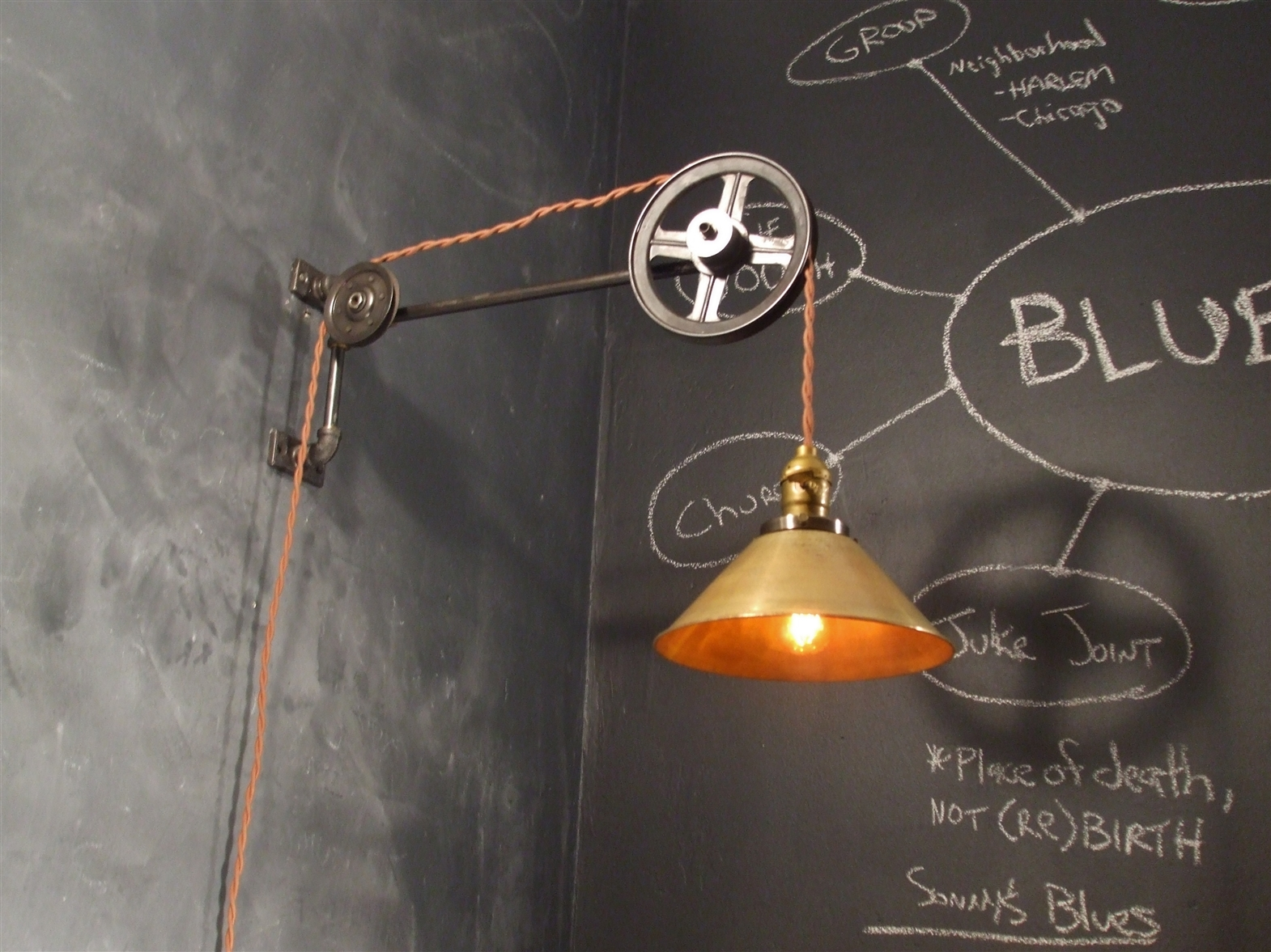 vintage industrial style pulley lamp on storenvy