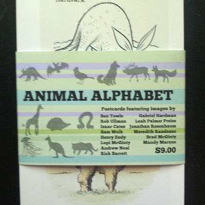Animal alphabet postcard set