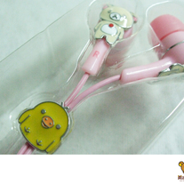 Korilakkuma Earphones (Metallic)