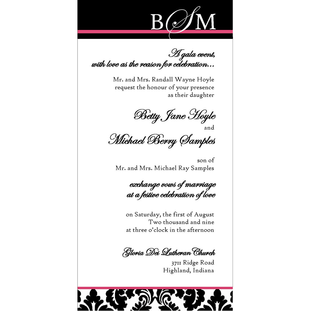 Signature ink signature bridal package 25 5x7 5x5 for 4x8 wedding invitations