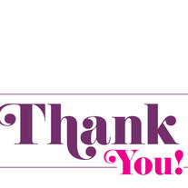 Thanks | Pink & Purple