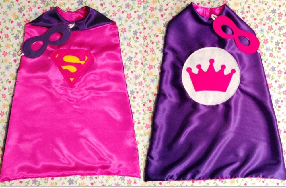 superhero cape supergirl princess reversible girl s super hero cape