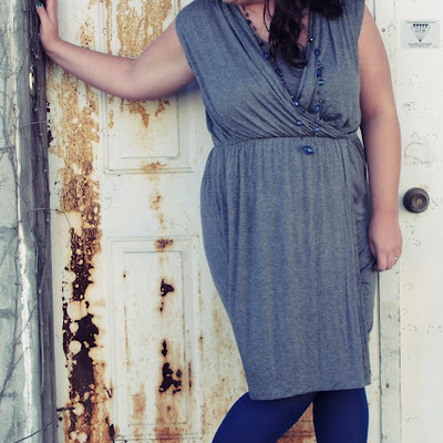 Apt. 9 gray crossover jersey dress, extra large
