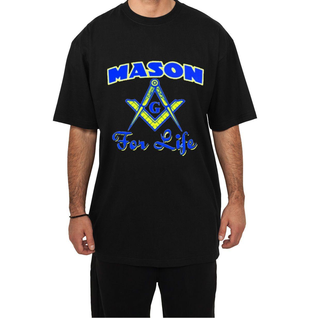 Masonic mason for life black t shirt for Mason s men s shirts