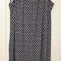 Voir Voir Mod Print Sleeveless Dress, Size 14