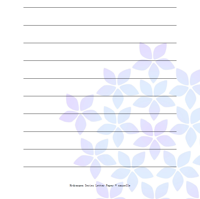 hydrangea printable letter paper 3 pdf template designs thumbnail 1
