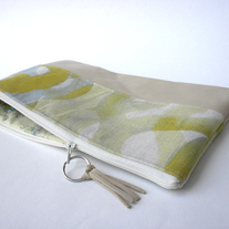 LEATHER CLUTCH IN WATERCOLOR