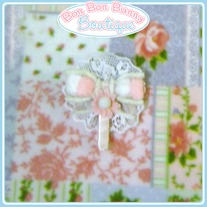 Pink Lace Bow Lollipop