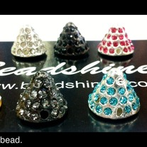 Spike Pave bead. 12mm