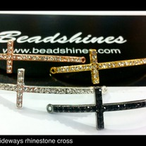 Thin Rhinestone Cross. 49mm