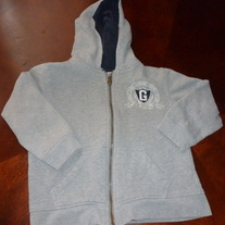 GUESS HOODED ZIP SWEATSHIRT-SIZE XS 4/5