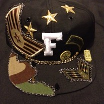 Army Hat w/ Personalized Letter