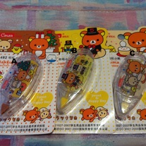 Rilakkuma Correction Tape (A-C)