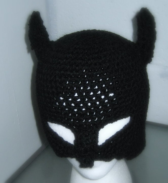 Batman Mask Hat Crochet Handmade Ready To Ship Today Angies Attic