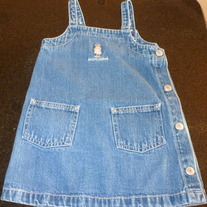 RALPH LAUREN JEAN DRESS SIZE L 12-18 MONTHS