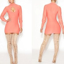 Girl on fire bodycon dress