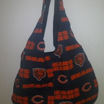 Chicago Bears Handmade Cotton Print Hobo Bag