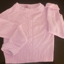 Pink Sweater-Just a Girl Size 10/12