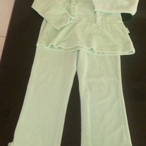 Green Velour Pant Set-The Childrens Place Size 4T