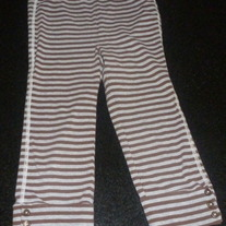 Brown/Gray Striped Leggings-Baby Gap Size 5T