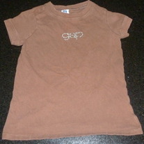 Brown Gap Beaded Shirt-Size XS 4-5