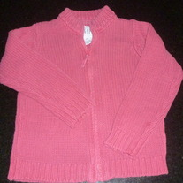 Pink Zip Sweater-Baby Gap Size 4T