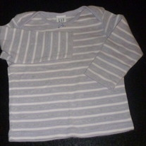 Purple/Gray/White Striped Shirt-Baby Gap Size 12-18 Months