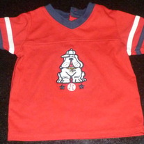 Red Shirt With Dog-Tad Little Size 6-9 Months