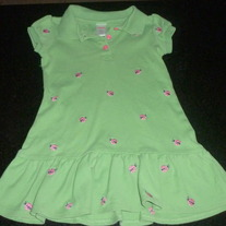 Green Dress With Pink Ladybugs-Gymboree Size 3