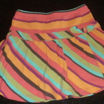 Multi Color Stripe Skirt With Built in Shorts-Gymboree Size 3