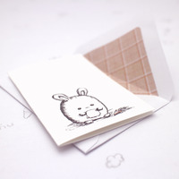 *sold* fat bunny note cards set of 6 - Thumbnail 4