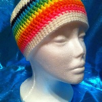 Rainbow Beanie - DESTASH SALE - Thumbnail 1