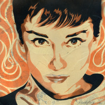 Audrey (orange, framed)