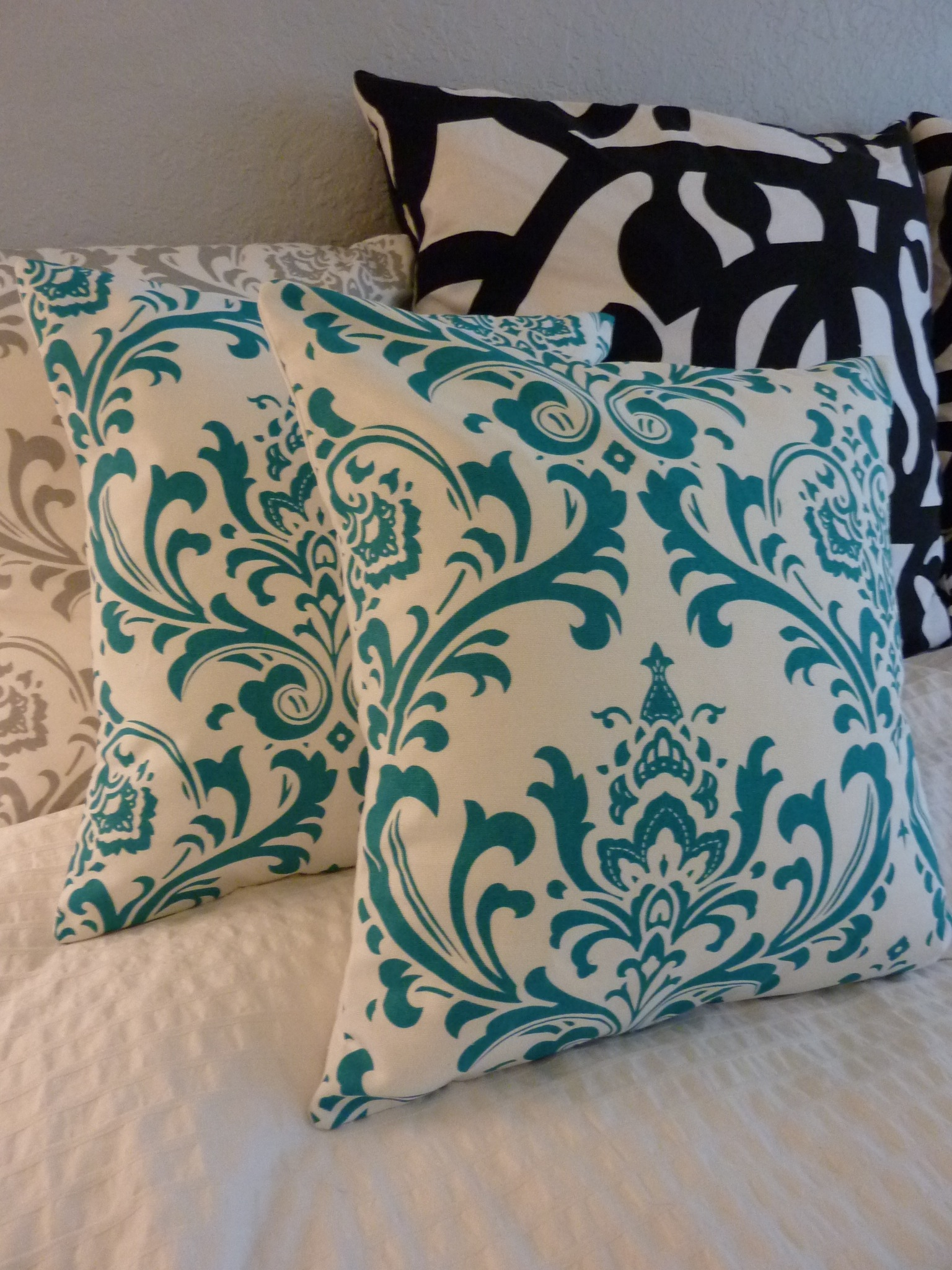 True Modern Pillows : Simply Pillow Decorative Pillows Cover- Premier Prints- Traditions True Turquoise - ONE 16x16 ...