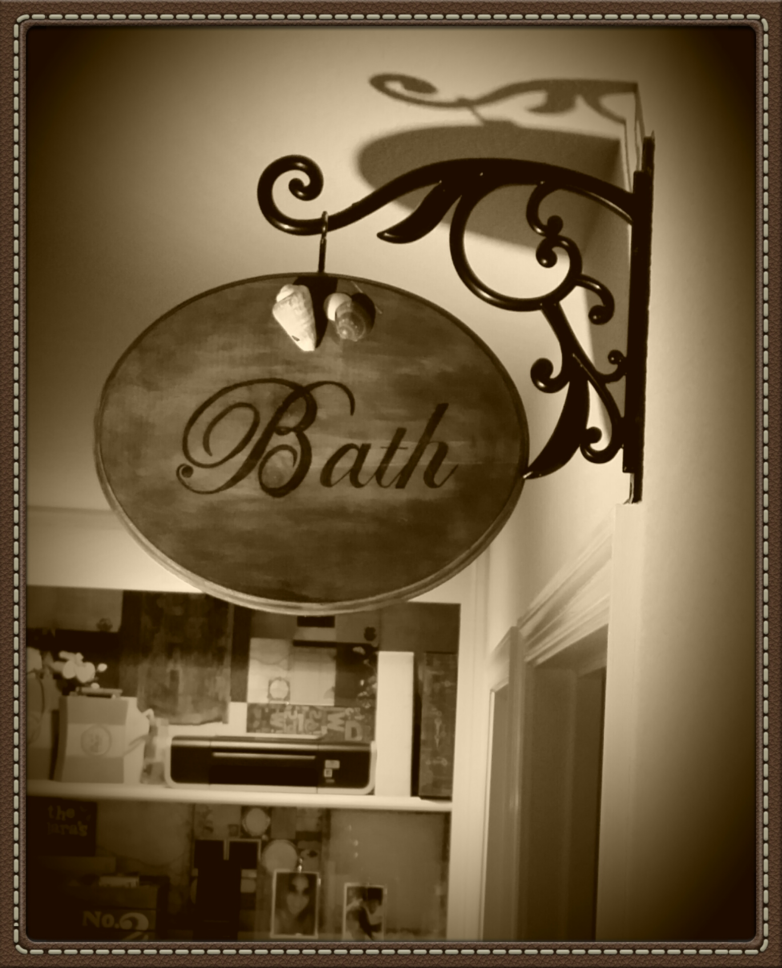 Hanging Bath Sign · ModernVintageDesignTreasures · Online Store ...