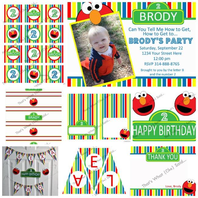 Elmo Sesame Street Birthday Kit