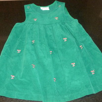 Green Candy Cane Dress-Rare, Too! Size 4T