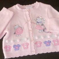 Pink Sweater with Cats-Rare, Too! Size 6