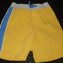 Yellow Shorts W Blue Stripe-Thomas And Friends Size 3T