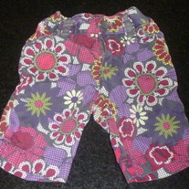 Brown Capris With Flowers-The Children's Place Size 18 Months