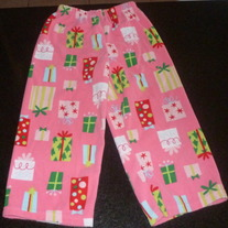 Pink Sleep Pants with Presents-Carters Size 4T
