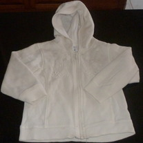White Zip Up Hoodie with Snowflakes-Old Navy Size 5T