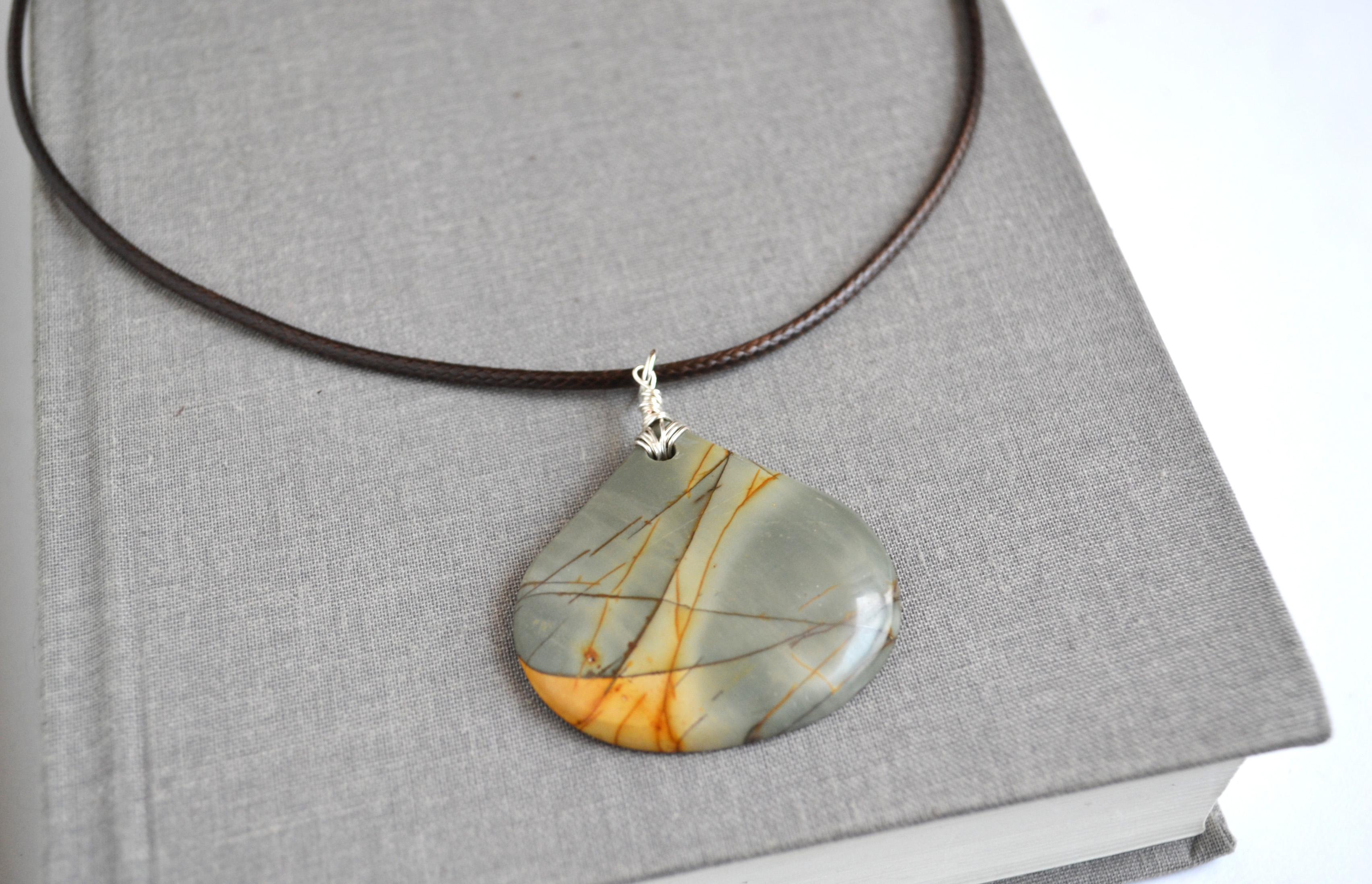 Sale stone pendant picasso jasper jasper pendant summer necklace sale stone pendant picasso jasper jasper pendant summer necklace aloadofball Images