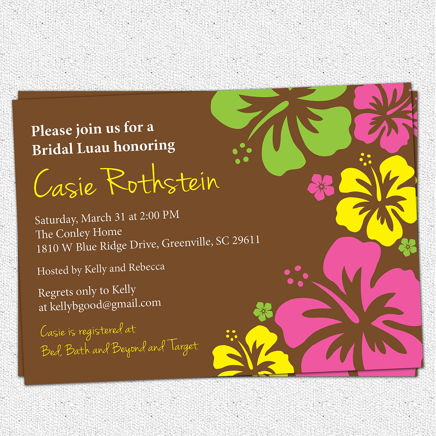 Luau bridal baby shower invitations hawaiian hibiscus birthday luau bridal baby shower invitations hawaiian hibiscus birthday party floral modern filmwisefo