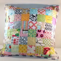 Modern Scrappy Squares Pillow Cover