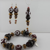 Sparkle Ox Blood and Gold Set