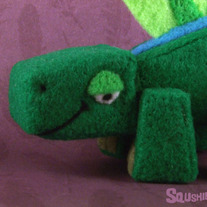 Cecil the Dimetrodon - Dinosaur Soft Sculpture