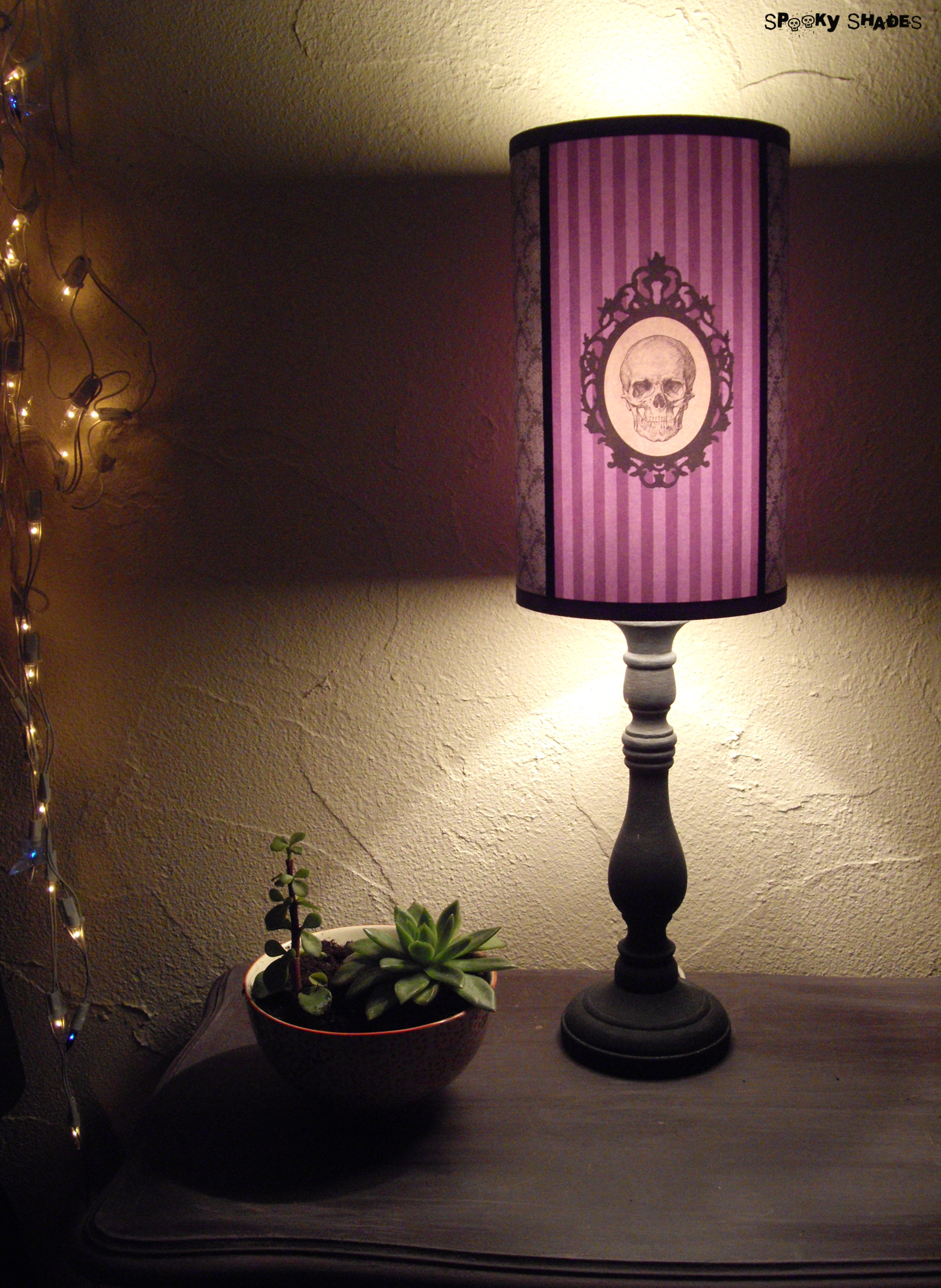 Baroque skull purple lamp shade spooky shades online store baroque skull purple lamp shade thumbnail 1 aloadofball Image collections