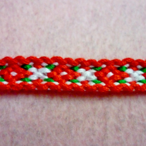 Poinsettia Christmas Braided Friendship Bracelet