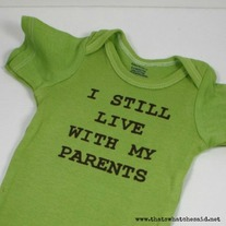 """I Still Live With My Parents"" Onesie"
